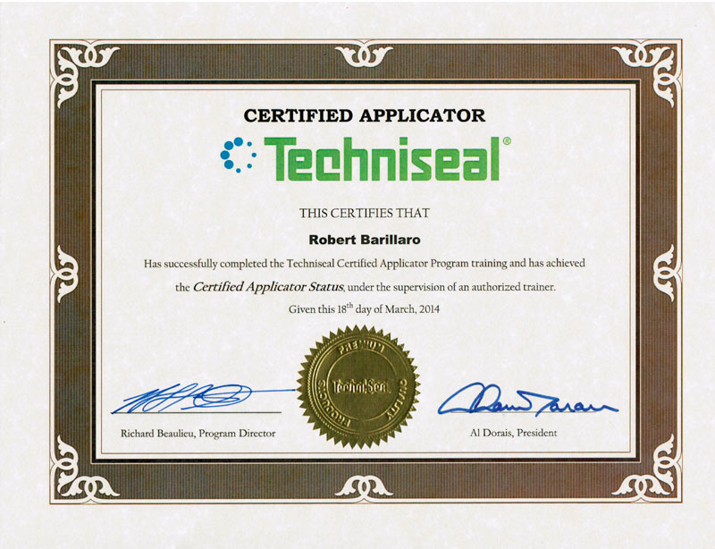 Certification Techniseal Ouest-de-lile